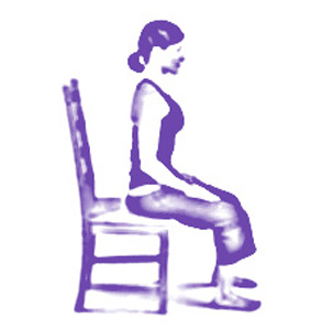 Chair Yoga Meditation Posture